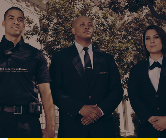 professional, trained security guards hi8security melbourne